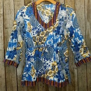 Tribal print blouse from World Market